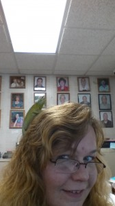 There is a 3-horned lizard on my head